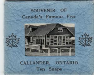 CALLANDER , Ontario , 1930s ; Ten snapshot in small Box Postcard