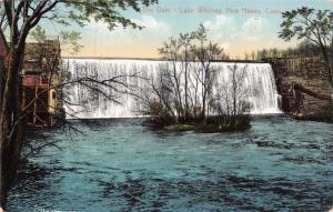 NEW HAVEN CONNECTICUT~THE DAM-LAKE WHITNEY~E.P.J. COMPANY PUBL POSTCARD 1910s