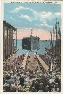 PHILADELPHIA, Pennsylvania, PU-1922 , Launching at Cramps shipyard