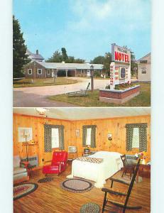 Unused Pre-1980 VILLAGE MOTEL Clinton Connecticut CT s5310-24
