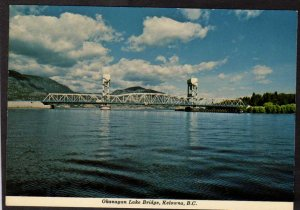BC Okanagan Lake Bridge Kelowna British Columbia Canada Carte Postale Postcard