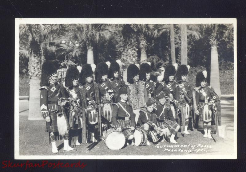 RPPC PASADENA CALIFORNIA TOURNAMENT OF ROSES PARADE 1921