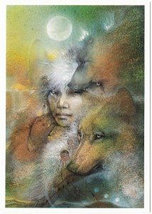 In the Company of Wolves by Susan Seddon Boulet Visionary Wolf Art Postcard