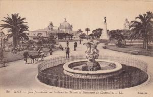NICE, Alpes Maritimes, France, 1900-1910´s; Jetee Promenade, Fontaine Des Tr...