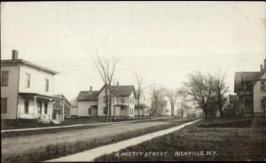Richville NY Street & Homes c1910 Real Photo Postcard jrf
