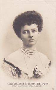 Herzogin Sophie Charlotte v. Oldenburg, Braut des Prinzen Eitel Friedrich, GE...