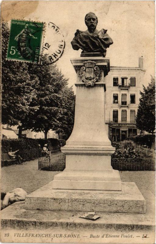 CPA  Villefranche-sur-Saone - Buste d'Etienne Poulet  (635504)