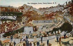 The Toboggan, Luna Park Coney Island, NY, USA Amusement Park Unused