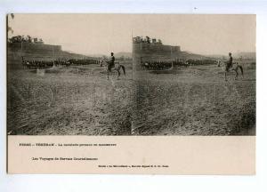 193192 IRAN Persia TEHERAN cavalry Vintage stereo postcard