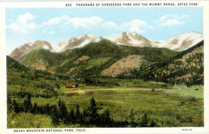 CO - Rocky Mountain National Park. Estes Park, Horseshoe Park and the Mummy R...