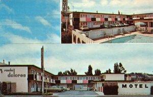 RANCHO DOLORES MOTEL El Camino Real San Mateo Roadside ca 1960s Vintage Postcard