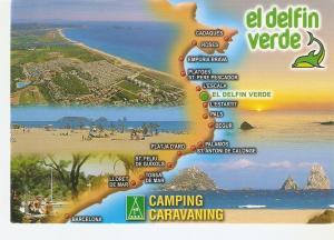 Postal 044158 : El delfin verde camping caravaning