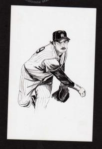 Catfish Hunter Baseball team Postcard Player New York Yankees James Hunter