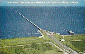 Louisiana New Orleans Lake Pontchartrain Causeway Worlds Longest Bridge