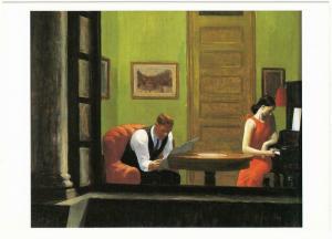 Room in New York by Edward Hopper American Realist Art Postcard
