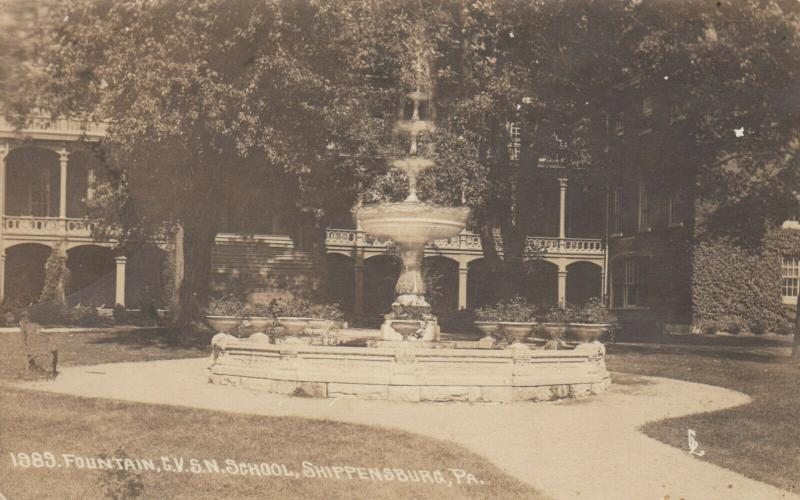 RP: SHIPPENSBURG , PA  1925 , Fountain , C.V.S.N. School