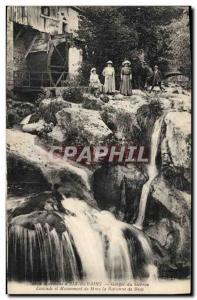 Postcard Old water mill vicinity of & # 39Aix les Bains Gorges Cascade Sierro...