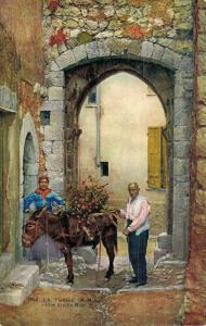 France La Turbie Une Vieille Rue Donkey 02.14