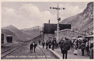 Cordillera De Los Andes Argentina Railway Train Station Postcard