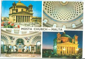 Mosta Church, Malta, used Postcard