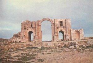 Postcard Jordan Jerash Amman's ruined gate