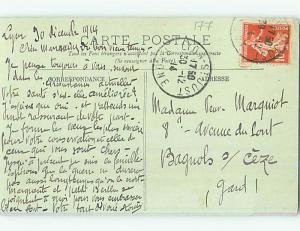 1914 postcard MEN SMOKE HOOKAH ON STREET Algiers Algeria hn6315