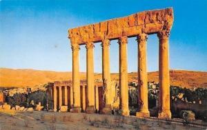Lebanon Ancient Roman Ruins of Temple of Jupiter Baalbek Beirut, Pan American