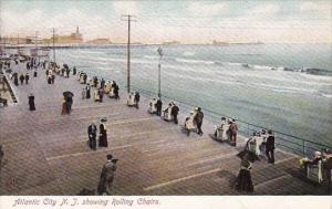 New Jersey Atlantic City Showing Rolling Chairs