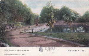 MONTREAL, Quebec, Canada, PU-1905; Park Drive and Reservoir