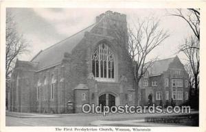 Churches Vintage Postcard Wausau, Wisconsin, USA Vintage Postcard First Presb...