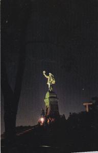 Parliament Hill, Monument To Samuel De Champlain In Nepean Point Park, OTTAWA...