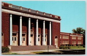 Greenville Mississippi~E E Bass Junior High School~Front Pillars~1957 Postcard