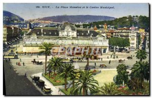 Old Postcard The Nice Massena Square and the Municipal Casino