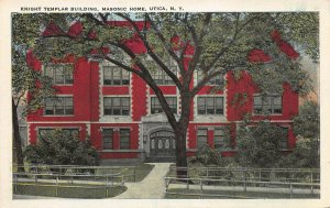 Knight Templar Building, Masonic Home, Utica, New York, Early Postcard, Unused