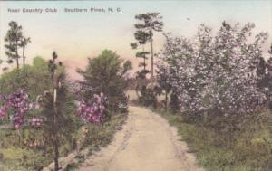 North Carolina Pinehurst Path Near The Country Club Handcolored Albertype
