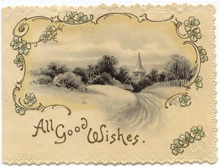 Victorian Greeting Card, A Country Winter Scene