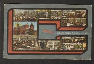 Cleary College Ypsilanti Michigan 1910c postcard