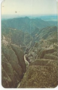 Postcard CO Colorado Aerial View Royal Gorge Canon City Posted 1972