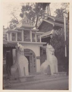 RP; Near south entrance of Shrine Dagon Pagoda, Shrines, Rangoon, Burma, 1930s