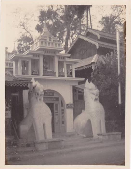 RP; Near south entrance of Shrine Dagon Pagoda, Shrines, Rangoon, Burma, 1930s
