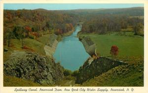 Sullivan County New York~Spillway Canal Neversink Dam~NYC Water Supply~1957