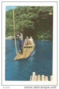 Rafting on the Rio Grande, Jamaica, B.W.I., PU 1959