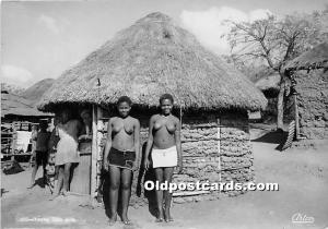 African Nude Postcard Young Zulu Girls Unused