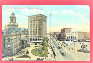 THE CAMPUS MARTIUS, DETROIT, MICH. 1908 DIVIDED BACK 1906 3.5 X 5.5 SEE SCAN