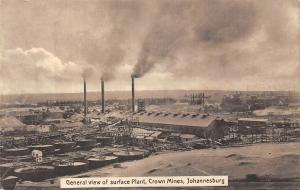 South Africa Johannesburg Crown Mines Factories General View of Surface Plant