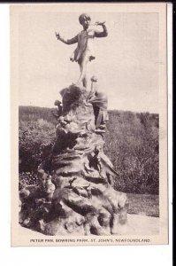 Peter Pan Statue, Bowring Park, St. John's Newfoundland, Closeup