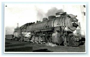 UP Union Pacific #5501 Railroad Train RPPC Real Photo Postcard Trimmed Ogden UT