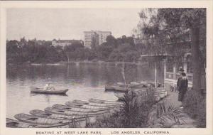 California Los Angeles Boating At West Lake Park