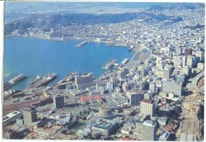 New Zealand, Wellington, Aerial View, 1977 used Postcard