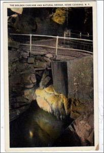 Golden Cascade & Natural Bridge, Howe Caverns NY